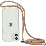 Mobiparts Lanyard iPhone 12 / iPhone 12 Pro hoesje Nude
