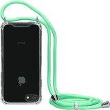 Mobiparts Lanyard iPhone SE 2020 / 8 / 7 hoesje Groen
