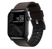 Nomad Active Pro Leather Apple Watch 45 / 44 / 42 mm bandje Bruin