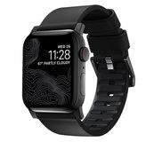 Nomad Active Pro Leather Apple Watch 45 / 44 / 42 mm bandje Zwart