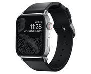 Nomad Modern Slim Apple Watch 41 / 40 / 38 mm bandje Zwart / Zilver