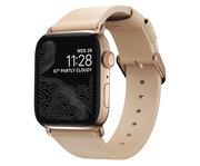 Nomad Modern Slim Apple Watch 41 / 40 / 38 mm bandje Natural / Goud