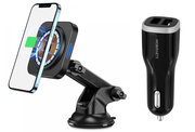 ESR HaloLock MagSafe iPhone 12 autohouder + auto oplader