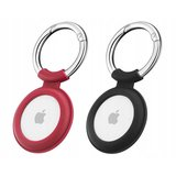 ESR Cloud Silicone AirTag hoesje 2 pack Zwart / Rood