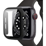 Tech Protection Full Body Apple Watch 44 mm screenprotector Zwart