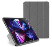 Pipetto Origami TPU iPad Pro 2021 11 inch hoesje Grijs