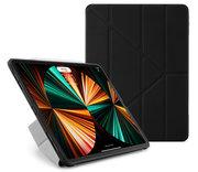 Pipetto Origami TPU iPad Pro 2021 12,9 inch hoesje Zwart