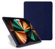 Pipetto Origami TPU iPad Pro 2021 12,9 inch hoesje Donkerblauw