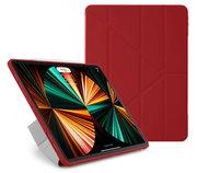 Pipetto Origami TPU iPad Pro 2021 12,9 inch hoesje Rood