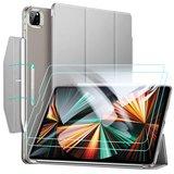 ESR Yippee iPad Pro 12,9 inch 2021 hoesje + glazen screenprotector Zilver