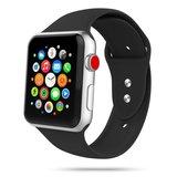 TechProtection siliconen Apple Watch 44 / 42 mm bandje Zwart