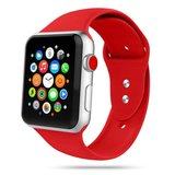 TechProtection siliconen Apple Watch 44 / 42 mm bandje Rood