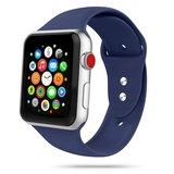 TechProtection siliconen Apple Watch 44 / 42 mm bandje Donkerblauw