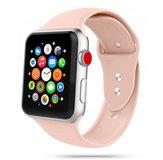 TechProtection siliconen Apple Watch 44 / 42 mm bandje Roze