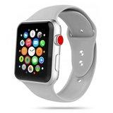 TechProtection siliconen Apple Watch 44 / 42 mm bandje Grijs