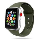 TechProtection siliconen Apple Watch 44 / 42 mm bandje Groen