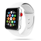 TechProtection siliconen Apple Watch 40 / 38 mm bandje Wit