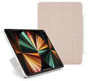 Pipetto Origami Luxe Folio iPad Pro 2021 12,9 inch hoesje Roze