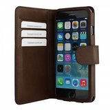 Bugatti Leather Bookcase Milano iPhone 6/6S Plus Brown