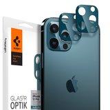 Spigen Optik Camera iPhone 12 Probeschermer 2 pack Blauw