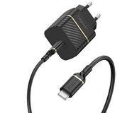 Otterbox USB-C 20 watt oplader + USB-C kabel Zwart
