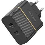 Otterbox USB-C en USB-A 30 watt oplader Zwart