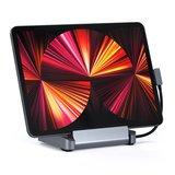 Satechi aluminium iPad Pro stand en USB-C hub Grijs