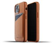 Mujjo Leather Wallet iPhone 13 mini hoesje Tan