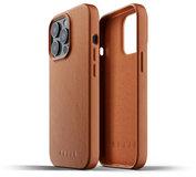 Mujjo Leather case iPhone 13 Pro hoesje Tan
