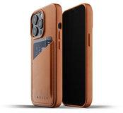 Mujjo Leather Wallet iPhone 13 Pro hoesje Tan