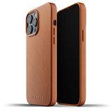 Mujjo Leather case iPhone 13 Pro Max hoesje Tan