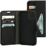 Mobiparts Classic Wallet iPhone 13 hoesje Zwart