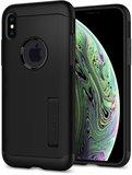 Spigen Slim Armor iPhone XS hoesje Zwart