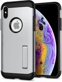 Spigen Slim Armor iPhone XS hoesje Zilver