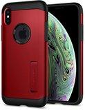 Spigen Slim Armor iPhone XS hoesje Rood