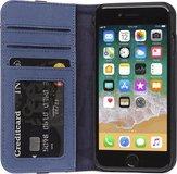 Decoded Leather Wallet iPhone SE 2020 /  8 / 7 hoesje Blauw