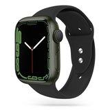 TechProtection siliconen Apple Watch 45 / 44 / 42 mm bandje Zwart