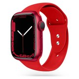 TechProtection siliconen Apple Watch 45 / 44 / 42 mm bandje Rood