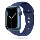 TechProtection siliconen Apple Watch 45 / 44 / 42 mm bandje Donkerblauw