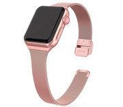 TechProtection Metal Slim Apple Watch 41 /40 / 38 mm bandje Rose Goud