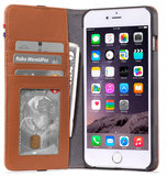 Decoded Leather Wallet iPhone 6/6S Plus hoes Bruin