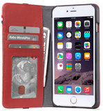 Decoded Leather Wallet iPhone 6/6S Plus hoes Rood