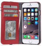 Decoded Leather Wallet iPhone 6/7 hoes Rood