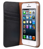 Melkco Herman Wallet case iPhone 5S/SE Black