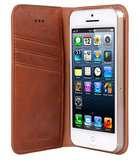 Melkco Herman Wallet case iPhone 5S/SE Tan