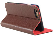 i-Chi Leather Slim Book iPhone 6/6S case Brown