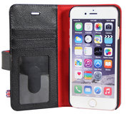 i-Chi Leather Wallet iPhone 6/6S case Black