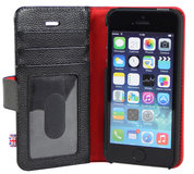 i-Chi Leather Wallet iPhone 5/5S case Black