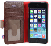 i-Chi Leather Wallet iPhone 5/5S case Brown
