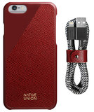 Native Union Clic Leather bundle iPhone 6/6S Bordeaux